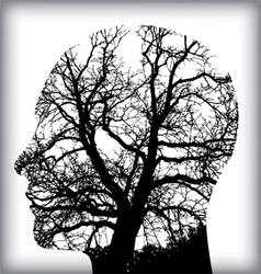 Man tree icon alt vector image vector image
