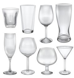 Opaque empty glasses vector image vector image