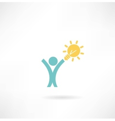 people with the idea of an icon vector image vector image