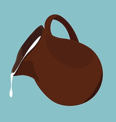 Pouring milk vector image