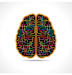 Brain forming of colorful arrows vector image