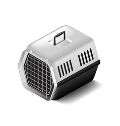 Cat carrier isolated on white vector image
