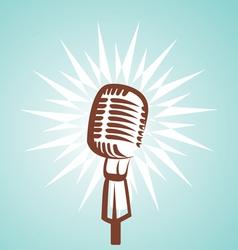 retro microphone symbol vector image vector image