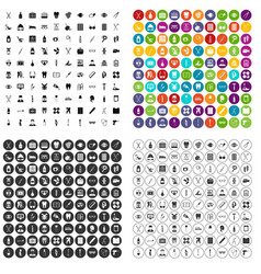 100 medical accessories icons set variant vector