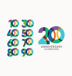 20 years anniversary celebration logo template vector