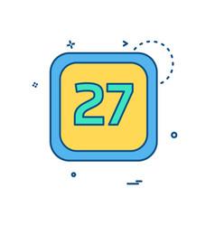 27 date calender icon design vector image