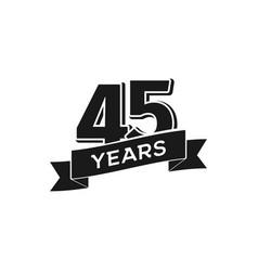 45 years anniversary logotype isolated vector image vector image