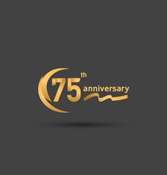 75 years anniversary logotype with double swoosh vector