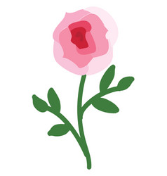 abstract on white background a pink rose with vector image