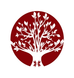 abstract red art tree closeup vector image