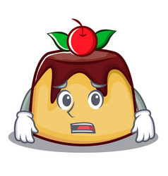 Afraid pudding character cartoon style vector