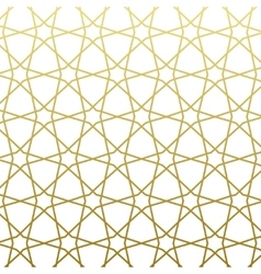 Arabic pattern gold style Traditional east vector image