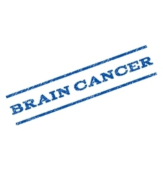Brain Cancer Watermark Stamp vector image