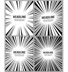 Business brochure with radial comic speed lines vector image