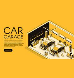 Car repair garage service isometric vector