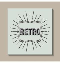 card retro vintage frame vector image