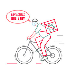 Contactless delivery icon vector