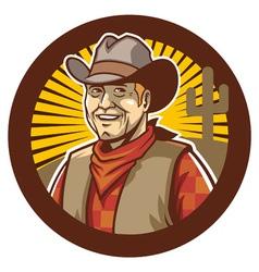 cowboy smile vector image