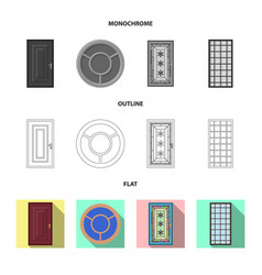 Design of door and front logo collection vector