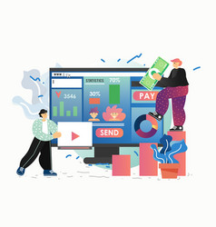 digital advertising campaign flat style vector image