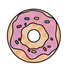 donut icon image vector image