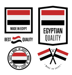 Egypt quality label set for goods vector