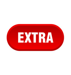 Extra button extra rounded red sign extra vector