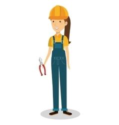 female builder avatar character vector image