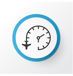 Flight time icon symbol premium quality isolated vector