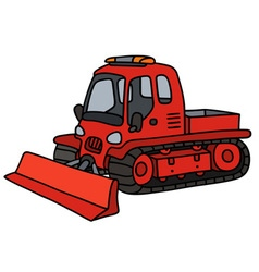 Funny red snowplow vector