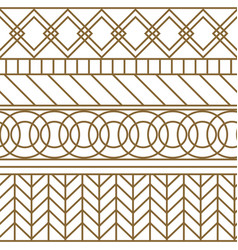 gold and white geometric line seamless vector image