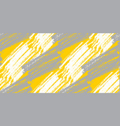 gray and yellow pencil seamless pattern vector image