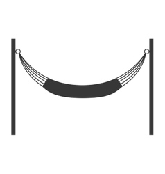 hammock silhouette icon Resting and sleep design vector image