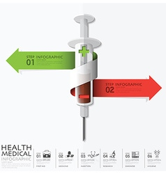 Health And Medical With Bind Spiral Arrow Syringe vector