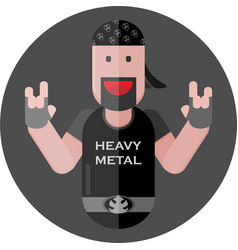 Heavy metal fan vector