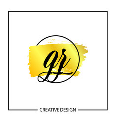 initial letter gz logo template design vector image
