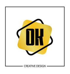 Initial letter ok logo template design vector