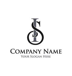 Initial letter si logo design vector