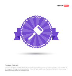 key icon - purple ribbon banner vector image