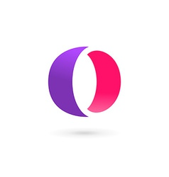Letter O number 0 logo icon design template vector image