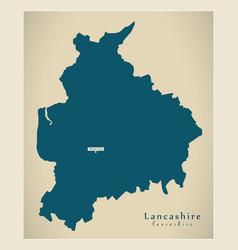Modern map - lancashire county england uk vector