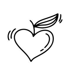 monoline valentines day hand drawn vector image