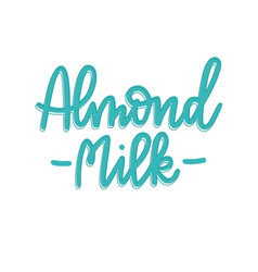 non-dairy plant based almond vegan milk vector image
