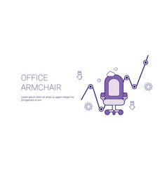 Office armchair web banner with copy space vector