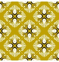 Ornamental vintage pattern with damask motifs vector