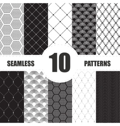 pattern dots collection Geometric set vector image