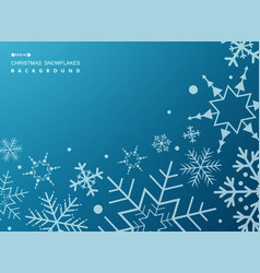 pattern of white geometric snowflakes on gradient vector image