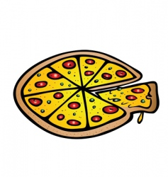 Pizza pepperoni cheese vector