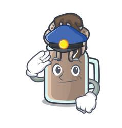 Police milkshake character cartoon style vector