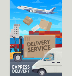 Post mail delivery service logistics transport vector